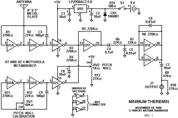 Tremendous Mini Theremin Circuit Diagram Free Image About Wiring Diagram And Wiring 101 Capemaxxcnl